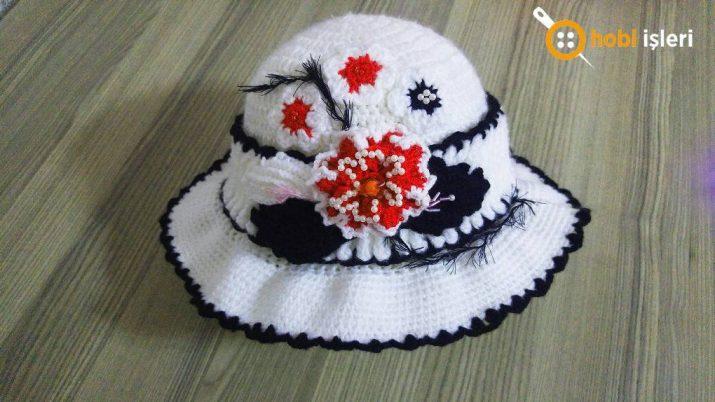 Örgü Şapka Yapımı Tığ İle Yapılan Şahane Bayan Şapkası