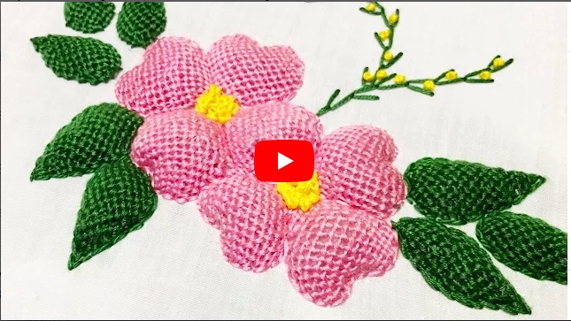 Hand Embroidery Padded Lace Stitch