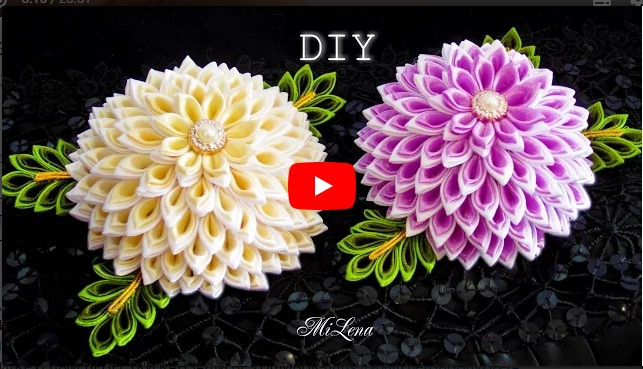DIY LAYERED KANZASHI FLOWER