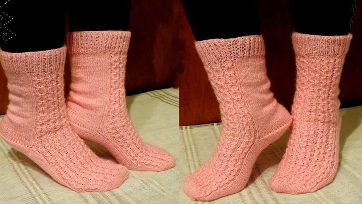 Beş Şişle Yapılan Çorap Modeli Anlatımlı Yapılışı