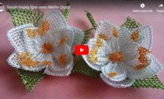 Tespih Başlığı Nilüfer Çiçeği İğne Oyası Yapılışı