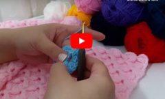Kabartmalı Kurdele Modeli Bebek Battaniyesi