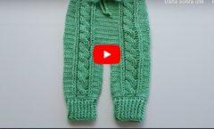 Tığ İşi Saç Örgülü Bebek Pantolon Yapımı 6-12 ay
