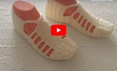 Dansöz patik yapılışı  Dekolte patik modelleri