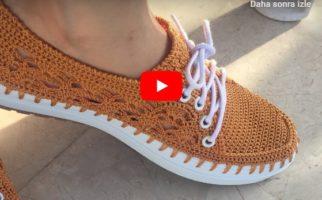 Zarif Yazlık Dantel modelli Ayakkabı Yapımı