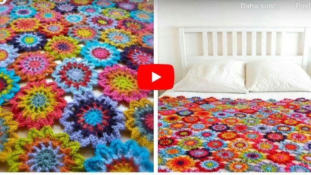 japon çiçeği japanese flower crochet tutorial nasıl yapılır