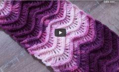 3D Atkı Modeli Yapımı.. Crochet scarf Örgü Modelleri
