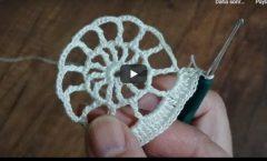 basit tığişi örgü motif yapımı