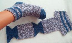 Örmesi Kolay Giymesi Çok Rahat İki Şiş İle Kolay  Örme Çorap