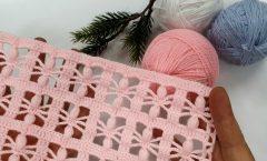 Tığ İşi Battaniye Modeli  Örümcek Bebek Battaniyesi